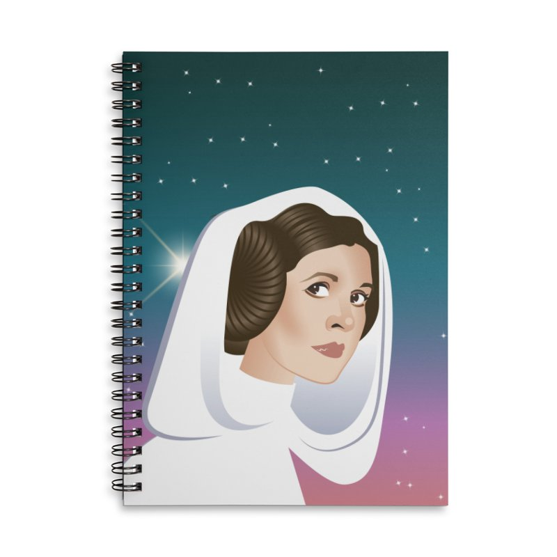 Carrie Accessories Lined Spiral Notebook by Ale Mogolloart's Artist Shop
