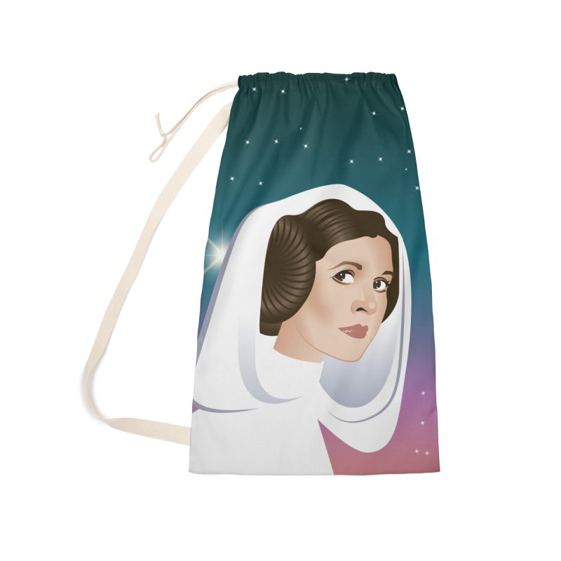 Carrie Accessories Laundry Bag Bag by Ale Mogolloart's Artist Shop