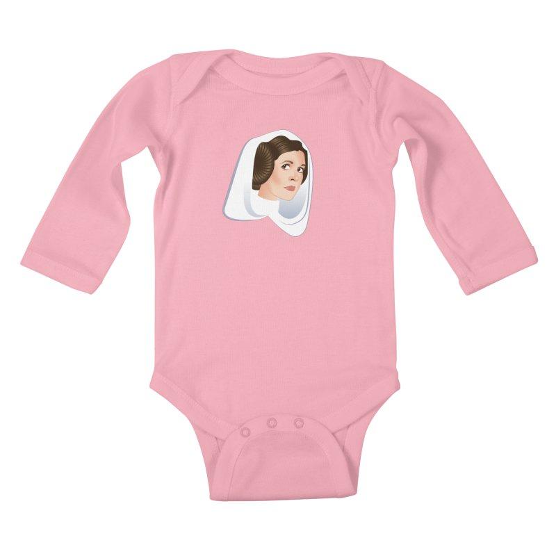Carrie Kids Baby Longsleeve Bodysuit by Ale Mogolloart's Artist Shop