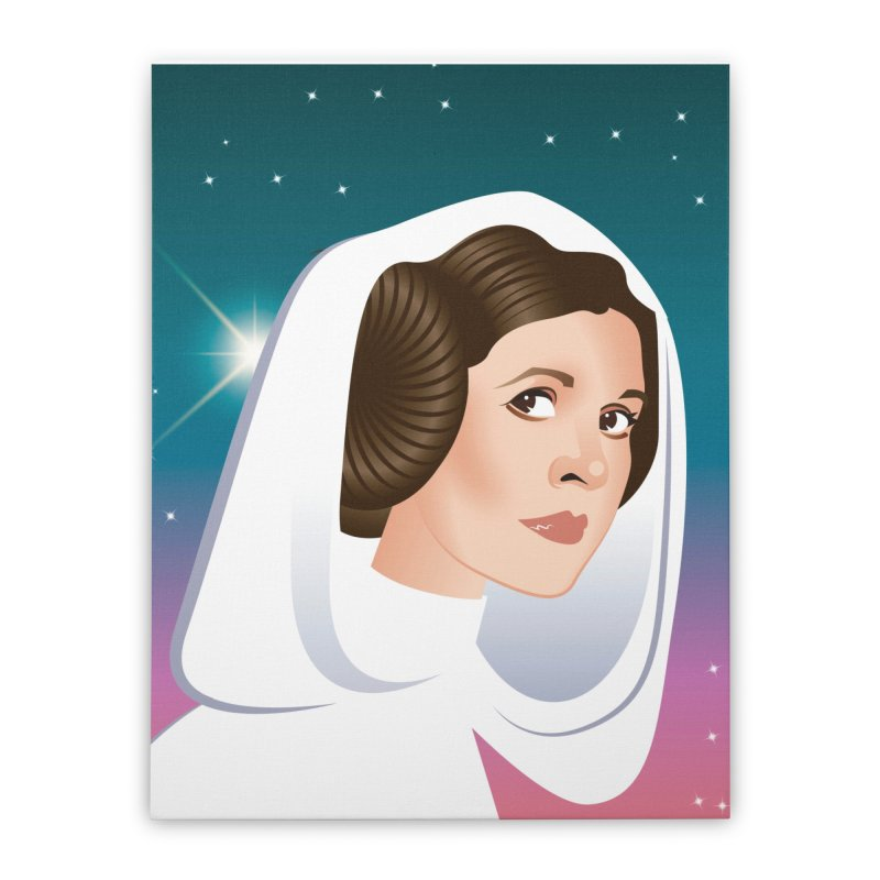Carrie Home Stretched Canvas by Ale Mogolloart's Artist Shop