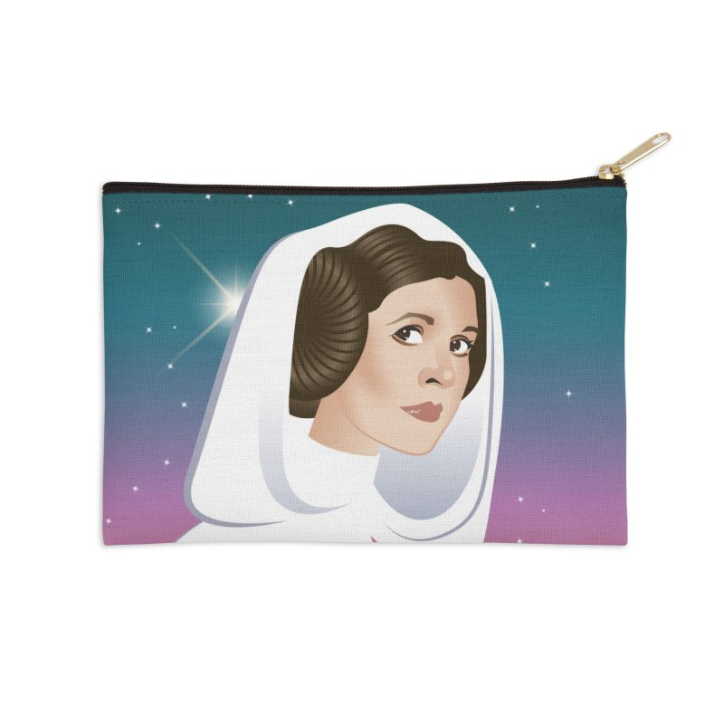 Carrie Accessories Zip Pouch by Ale Mogolloart's Artist Shop