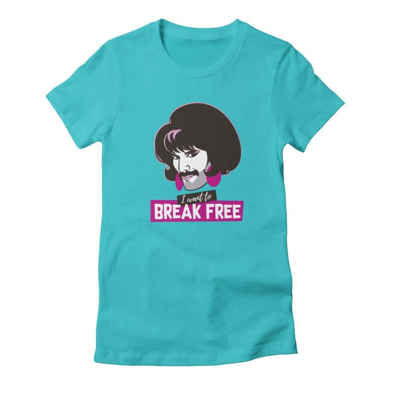 Free Women's Fitted T-Shirt by Ale Mogolloart's Artist Shop