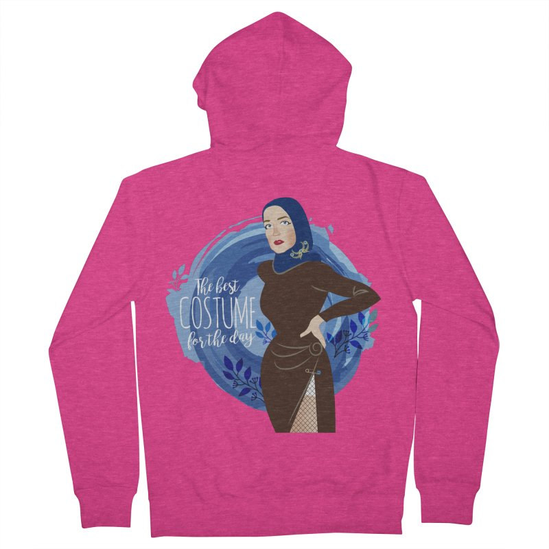 Costume Women's French Terry Zip-Up Hoody by Ale Mogolloart's Artist Shop