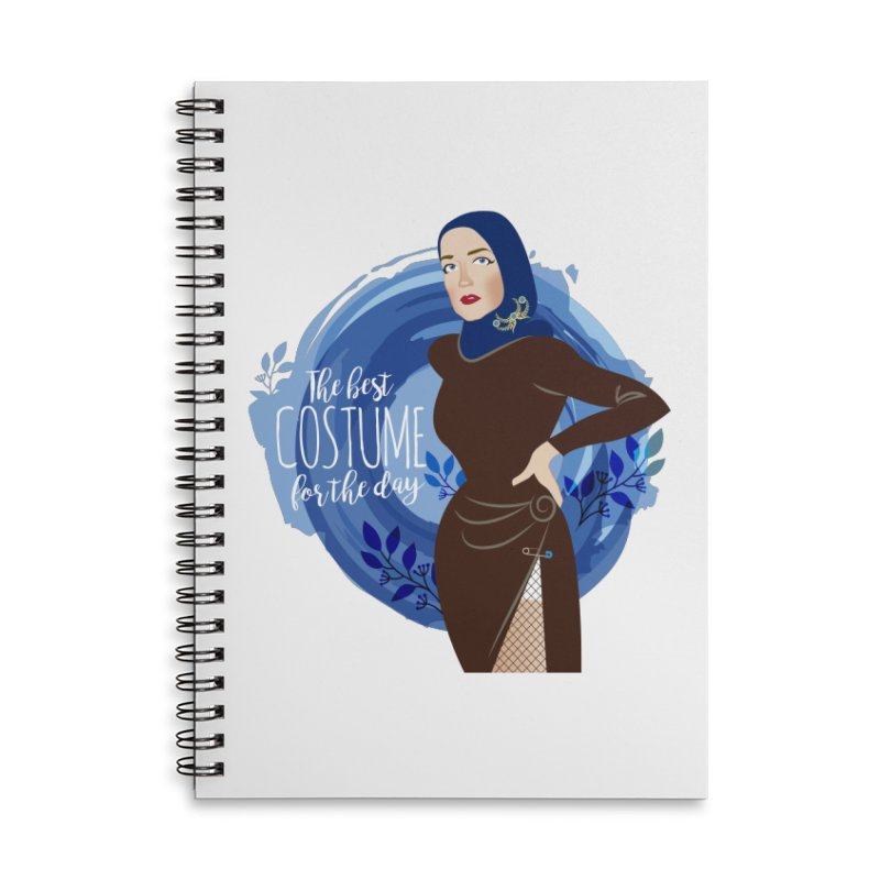 Costume Accessories Lined Spiral Notebook by Ale Mogolloart's Artist Shop
