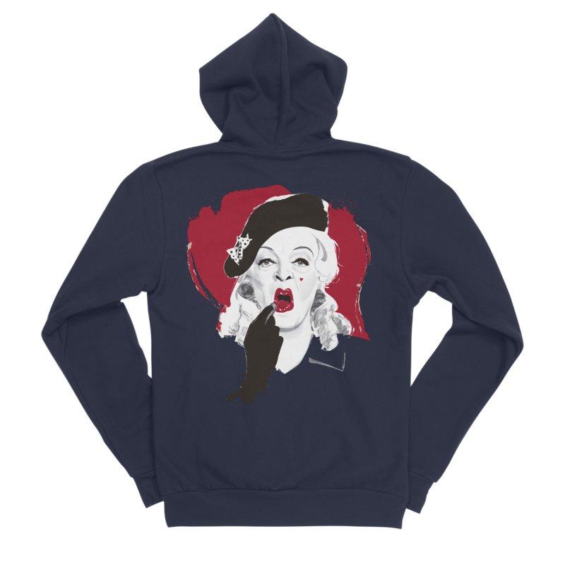 Baby Jane lipstick Men's Sponge Fleece Zip-Up Hoody by Ale Mogolloart's Artist Shop