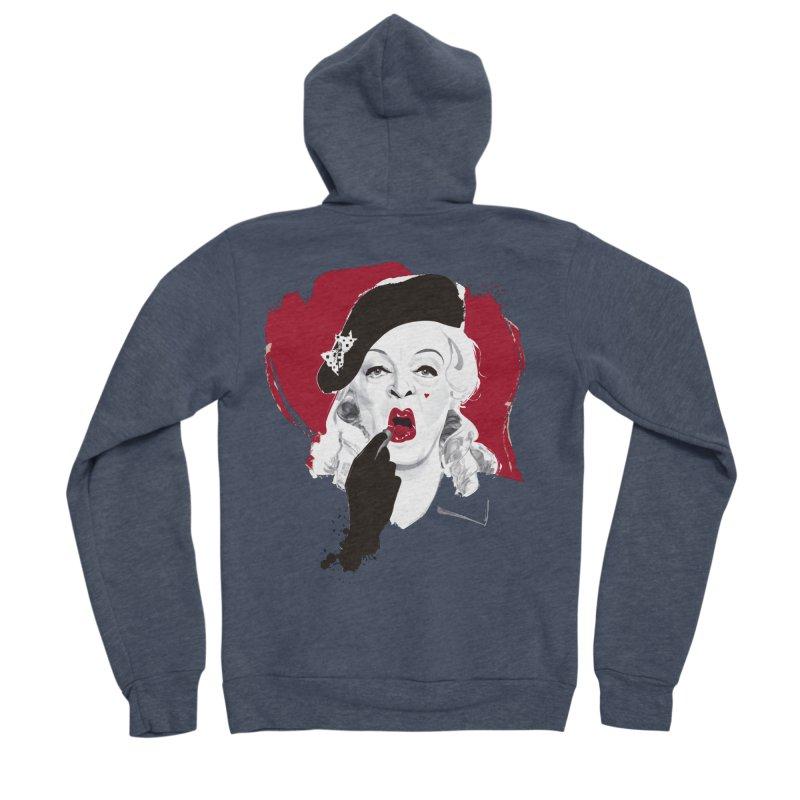 Baby Jane lipstick Women's Sponge Fleece Zip-Up Hoody by Ale Mogolloart's Artist Shop