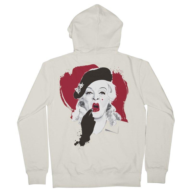 Baby Jane lipstick Women's French Terry Zip-Up Hoody by Ale Mogolloart's Artist Shop