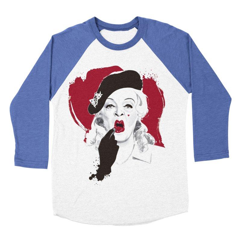 Baby Jane lipstick Women's Baseball Triblend Longsleeve T-Shirt by Ale Mogolloart's Artist Shop