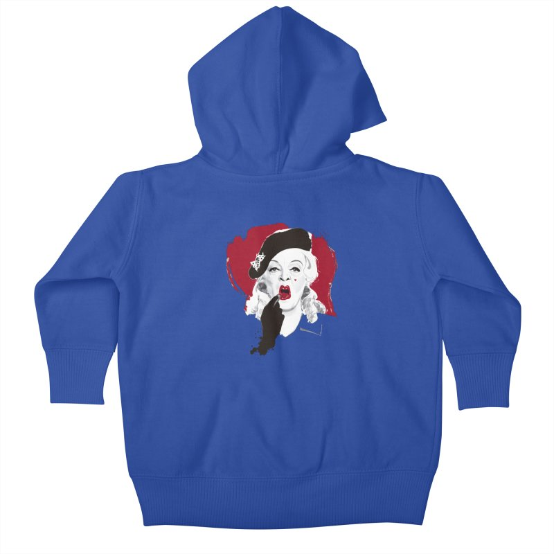 Baby Jane lipstick Kids Baby Zip-Up Hoody by Ale Mogolloart's Artist Shop