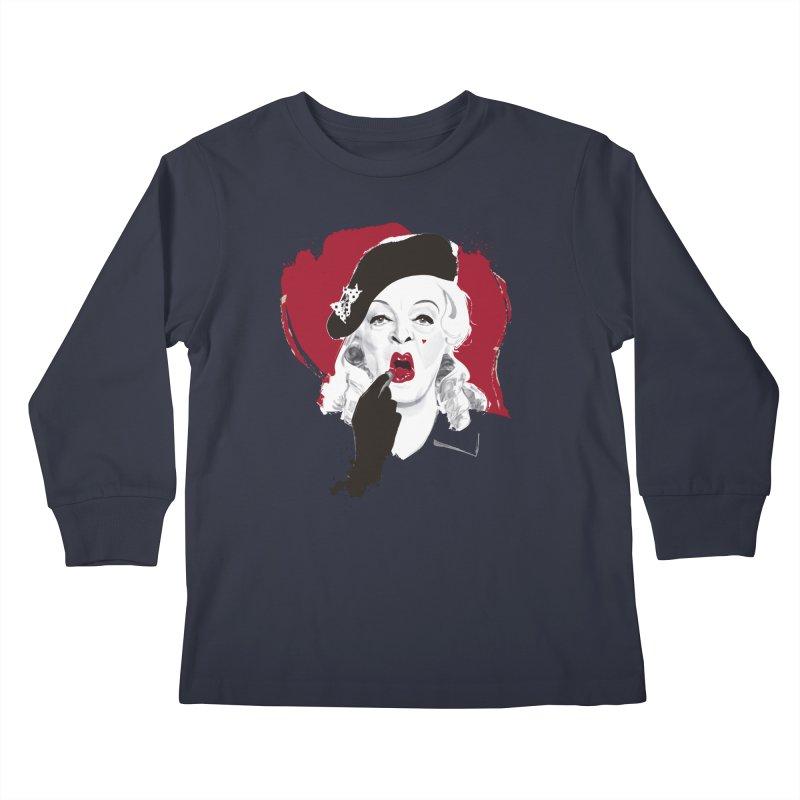 Baby Jane lipstick Kids Longsleeve T-Shirt by Ale Mogolloart's Artist Shop