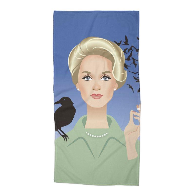 Birds Accessories Beach Towel by Ale Mogolloart's Artist Shop