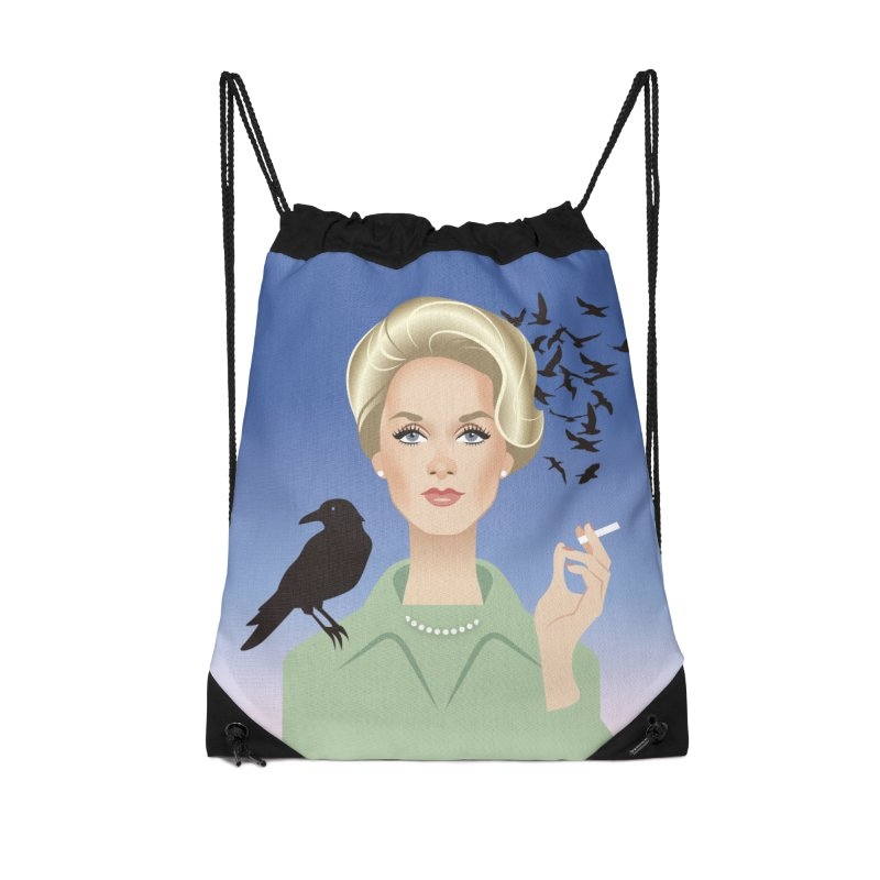 Birds Accessories Drawstring Bag Bag by Ale Mogolloart's Artist Shop