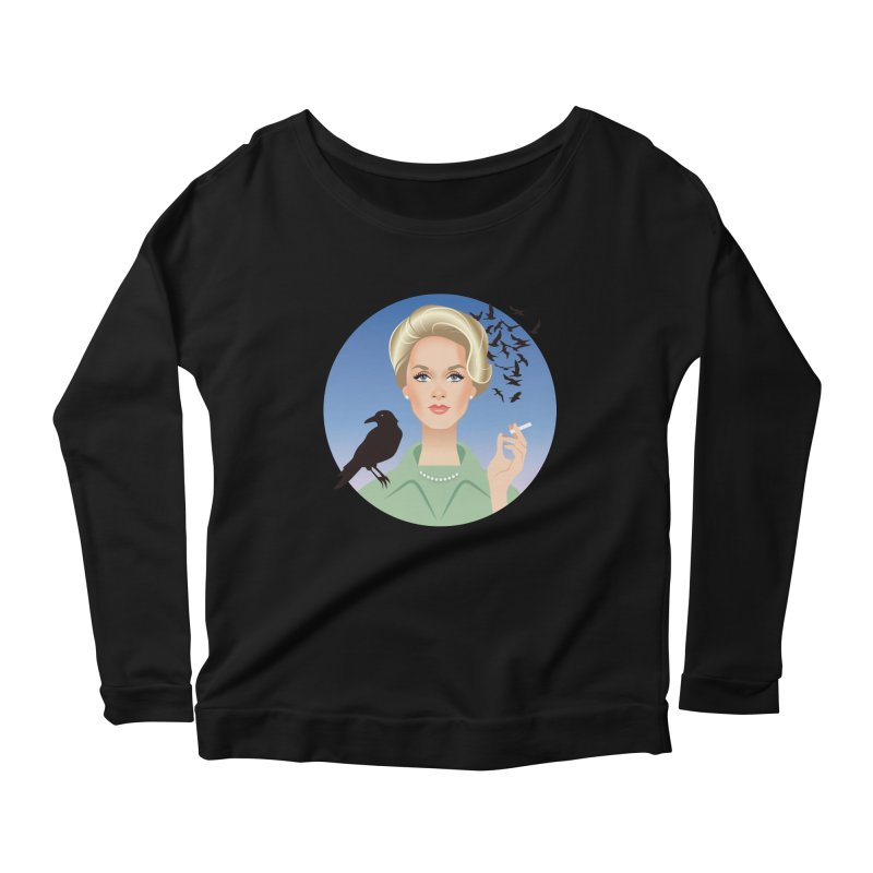 Birds Women's Scoop Neck Longsleeve T-Shirt by Ale Mogolloart's Artist Shop