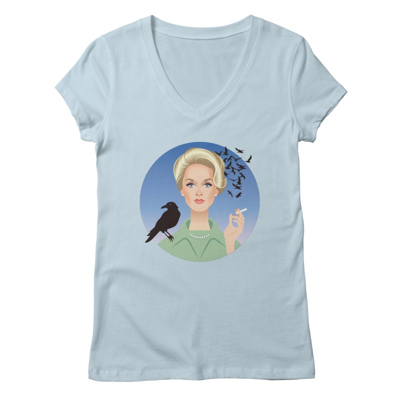 Birds Women's Regular V-Neck by Ale Mogolloart's Artist Shop
