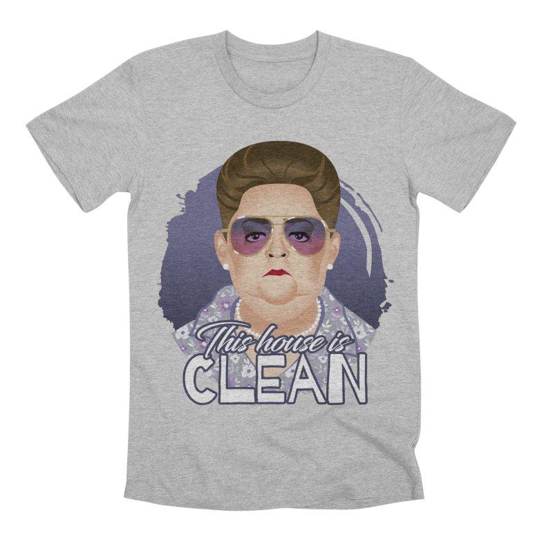 This house is clean Men's Premium T-Shirt by Ale Mogolloart's Artist Shop