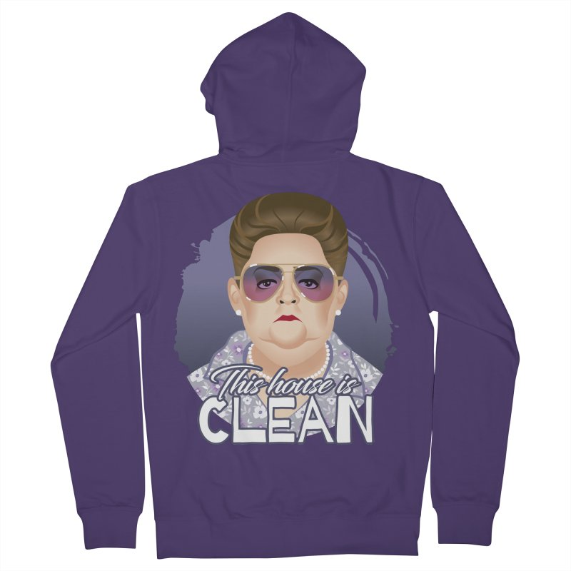 This house is clean Women's French Terry Zip-Up Hoody by Ale Mogolloart's Artist Shop