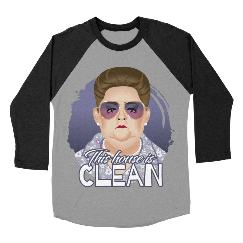 This house is clean Men's Baseball Triblend Longsleeve T-Shirt by Ale Mogolloart's Artist Shop