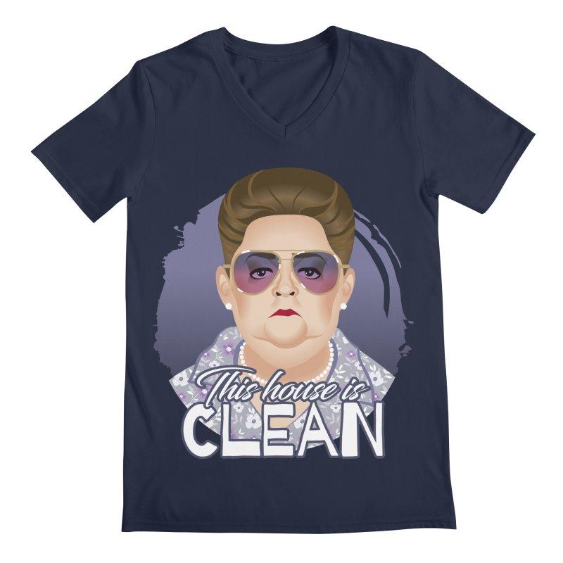 This house is clean Men's Regular V-Neck by Ale Mogolloart's Artist Shop