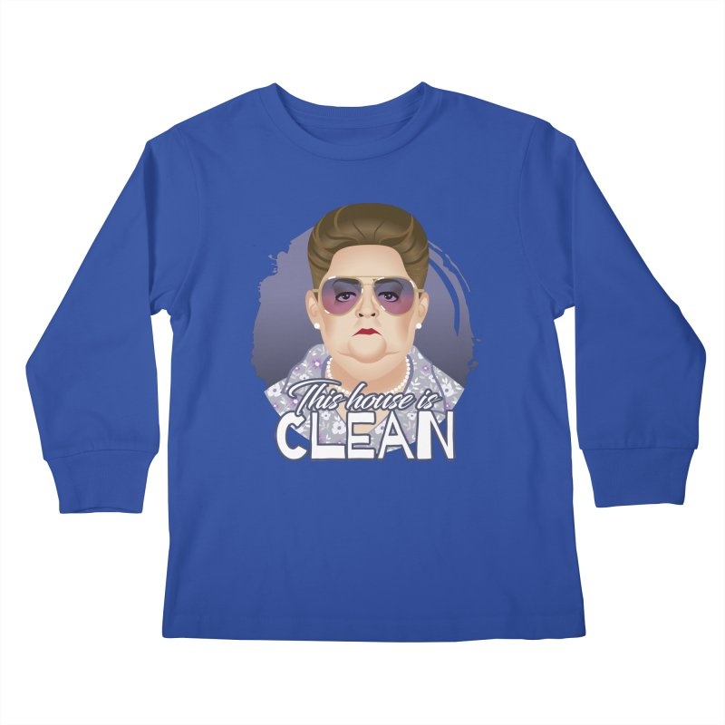 This house is clean Kids Longsleeve T-Shirt by Ale Mogolloart's Artist Shop