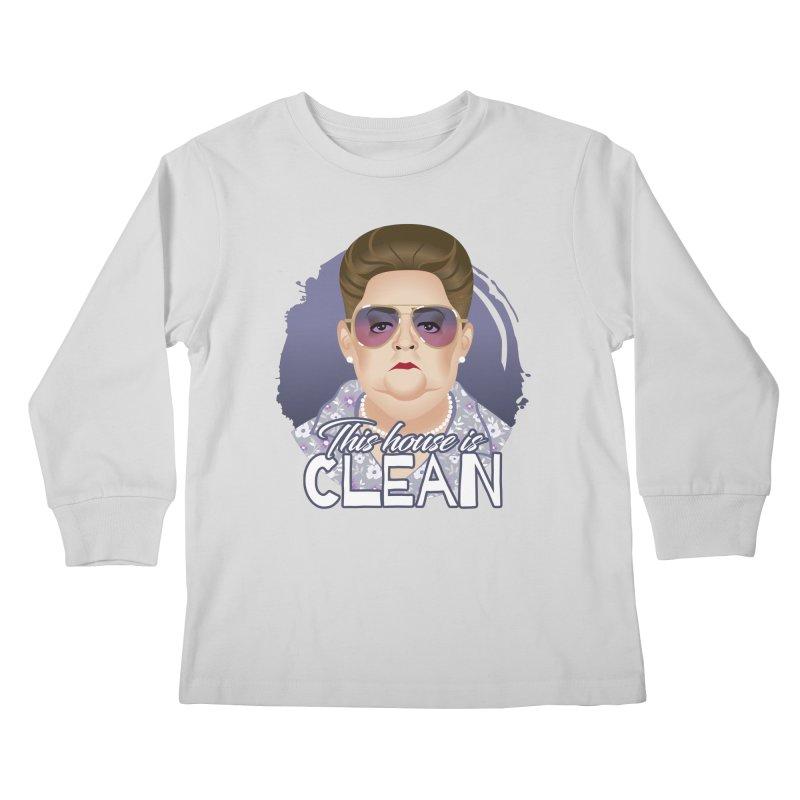 This house is clean Kids Longsleeve T-Shirt by Ale Mogolloart's Artist Shop
