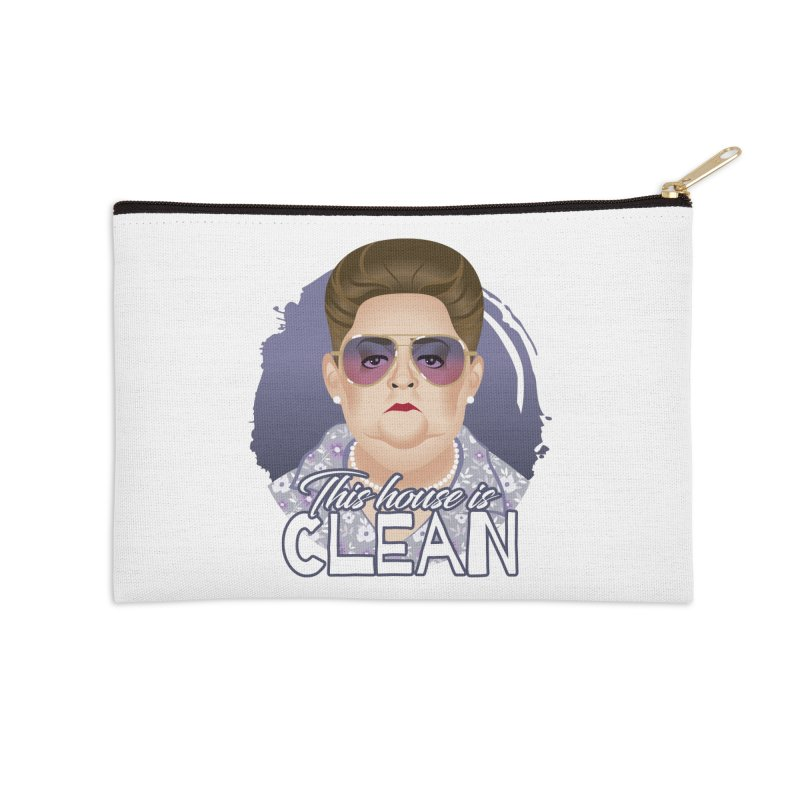 This house is clean Accessories Zip Pouch by Ale Mogolloart's Artist Shop