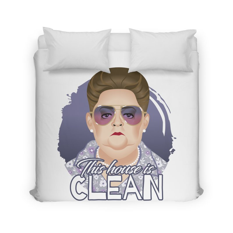 This house is clean Home Duvet by Ale Mogolloart's Artist Shop