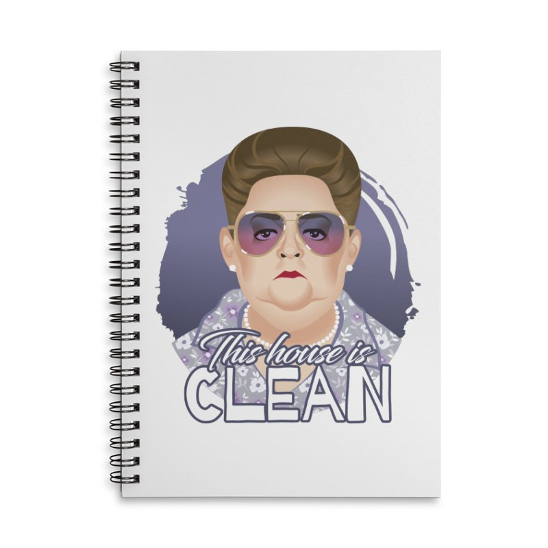 This house is clean Accessories Lined Spiral Notebook by Ale Mogolloart's Artist Shop
