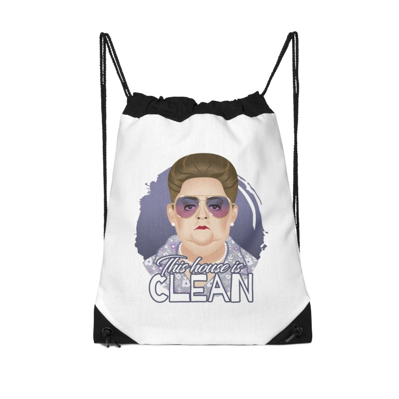 This house is clean Accessories Drawstring Bag Bag by Ale Mogolloart's Artist Shop