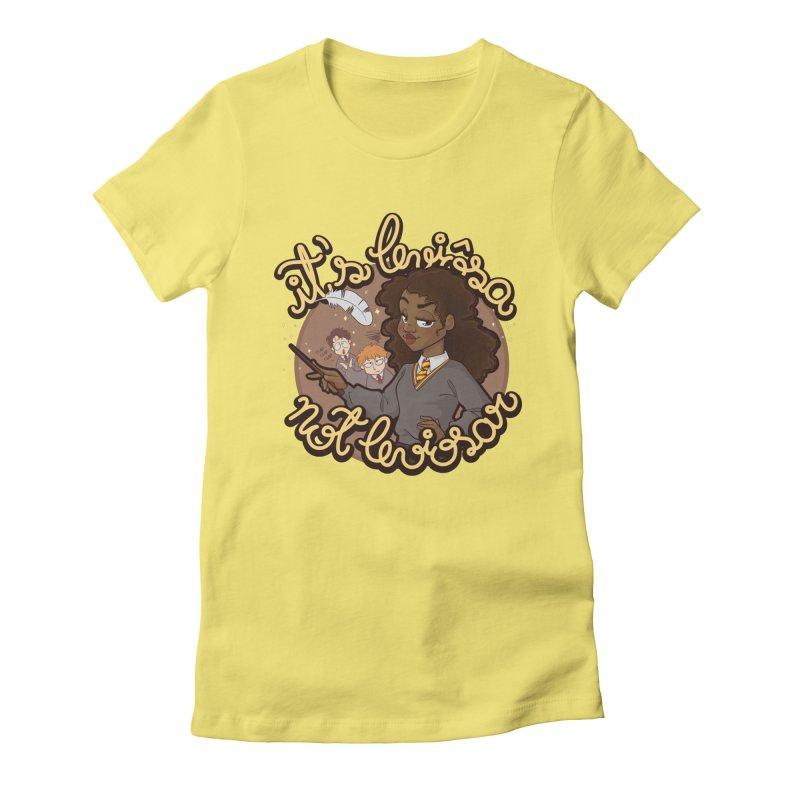 Leviosa Women's Fitted T-Shirt by AlePresser's Artist Shop