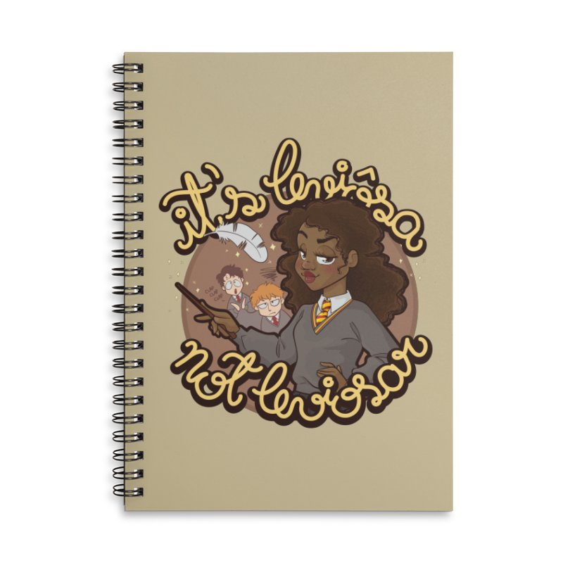 Leviosa Accessories Lined Spiral Notebook by AlePresser's Artist Shop