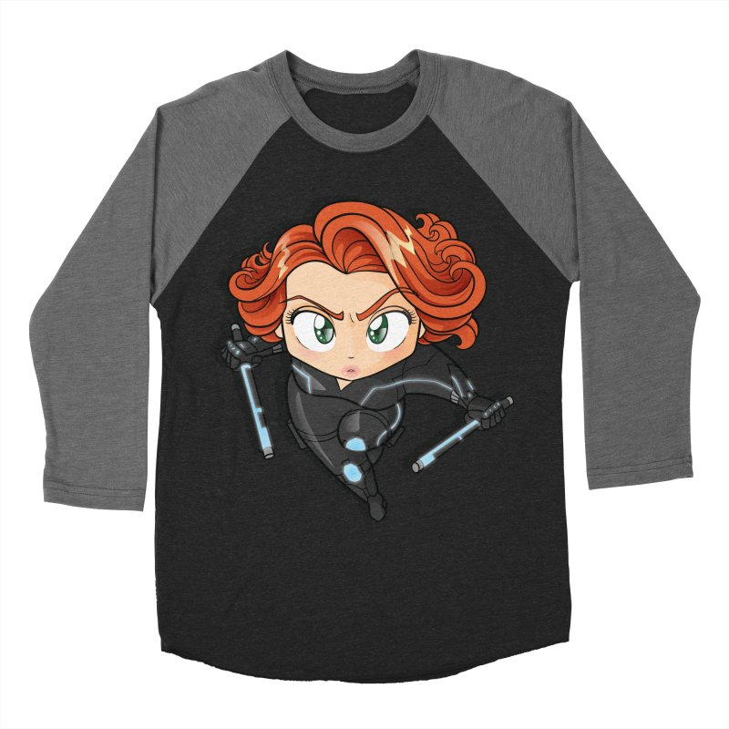 Tiny Black Widow Women's Baseball Triblend Longsleeve T-Shirt by AlePresser's Artist Shop