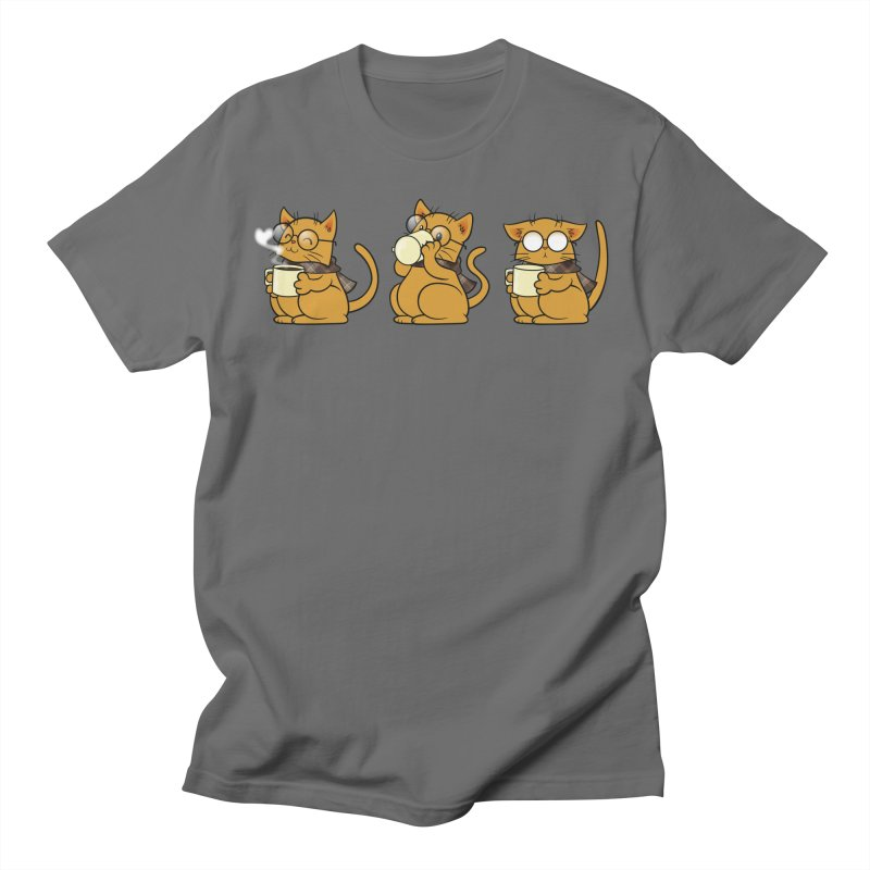 Cat, Coffee and Glasses Men's T-Shirt by AlePresser's Artist Shop