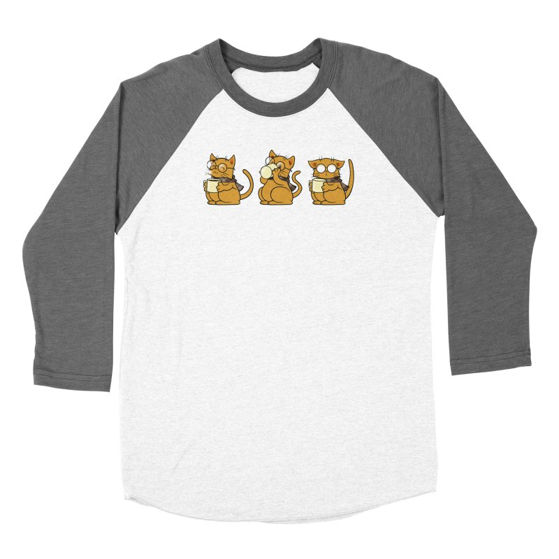 Cat, Coffee and Glasses Men's Longsleeve T-Shirt by AlePresser's Artist Shop