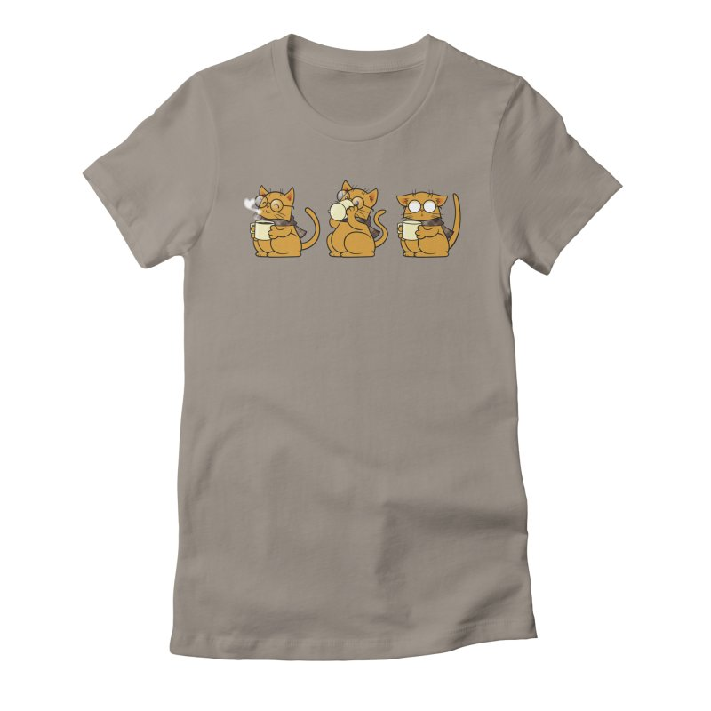 Cat, Coffee and Glasses Women's T-Shirt by AlePresser's Artist Shop