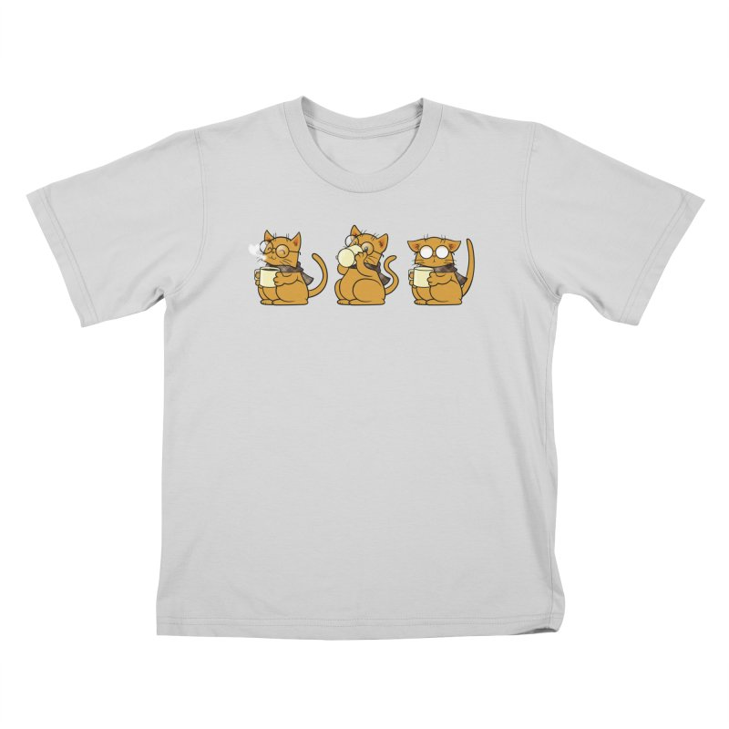 Cat, Coffee and Glasses Kids Toddler T-Shirt by AlePresser's Artist Shop