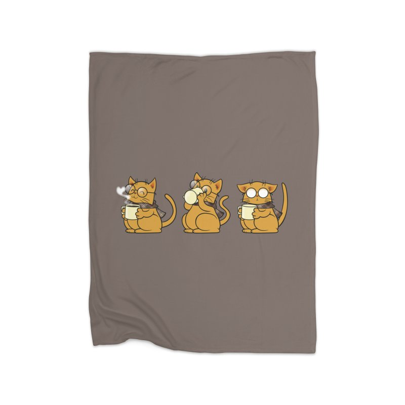 Cat, Coffee and Glasses Home Blanket by AlePresser's Artist Shop