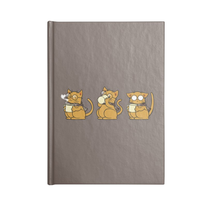 Cat, Coffee and Glasses Accessories Lined Journal Notebook by AlePresser's Artist Shop
