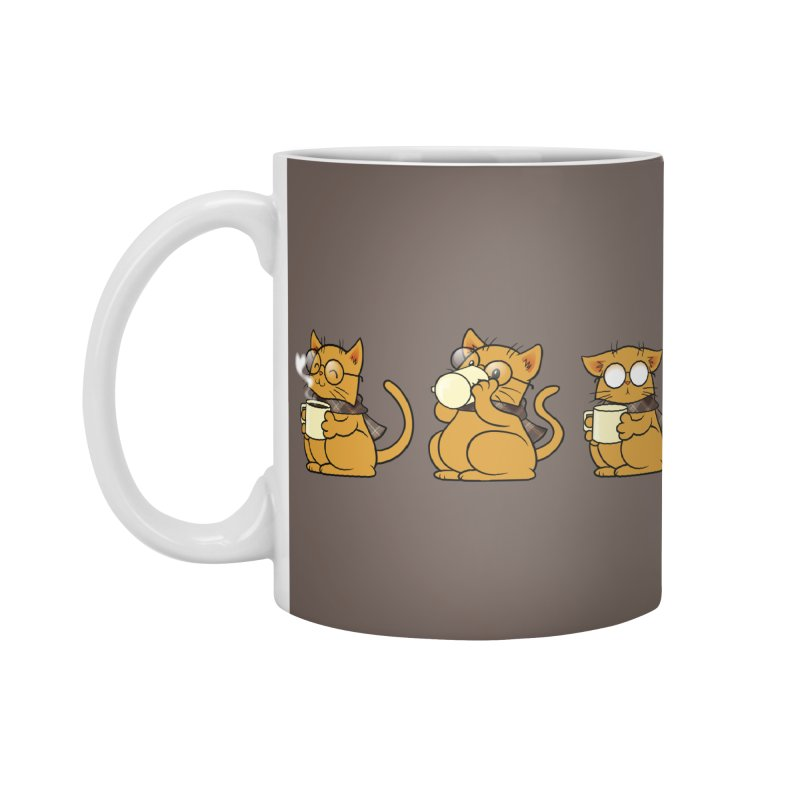 Cat, Coffee and Glasses Accessories Mug by AlePresser's Artist Shop
