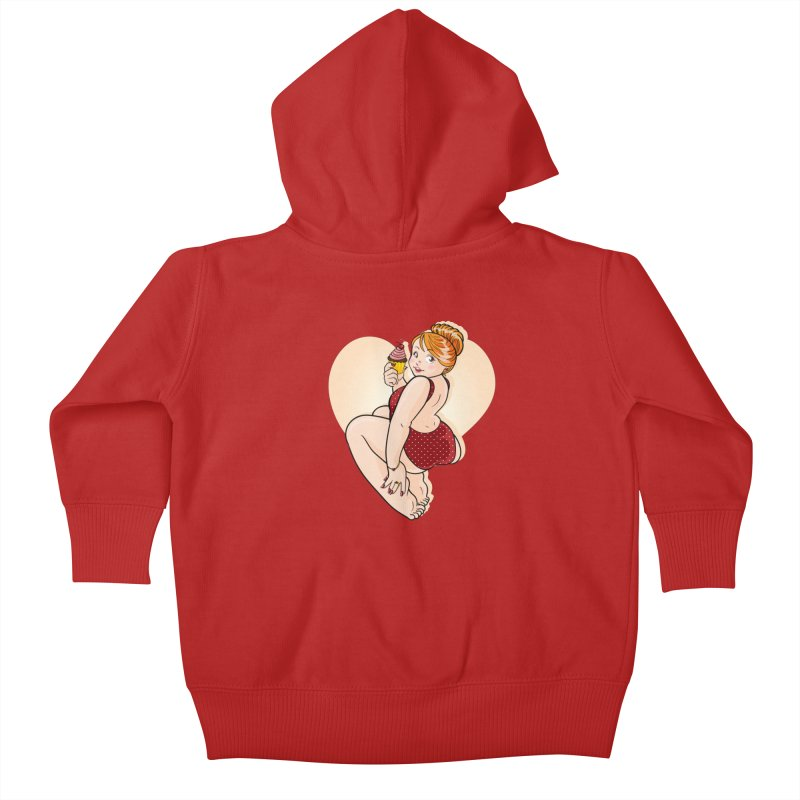 Delicious Pinup Kids Baby Zip-Up Hoody by AlePresser's Artist Shop