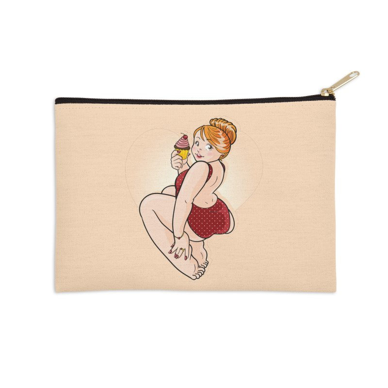 Delicious Pinup Accessories Zip Pouch by AlePresser's Artist Shop