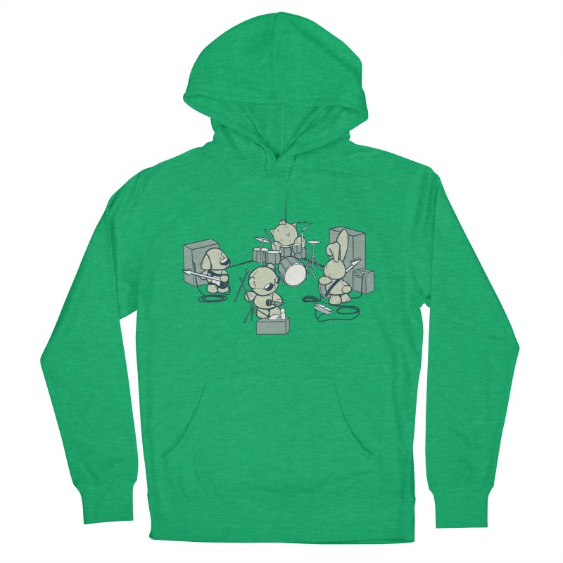 Teddy Band Men's French Terry Pullover Hoody by AlePresser's Artist Shop