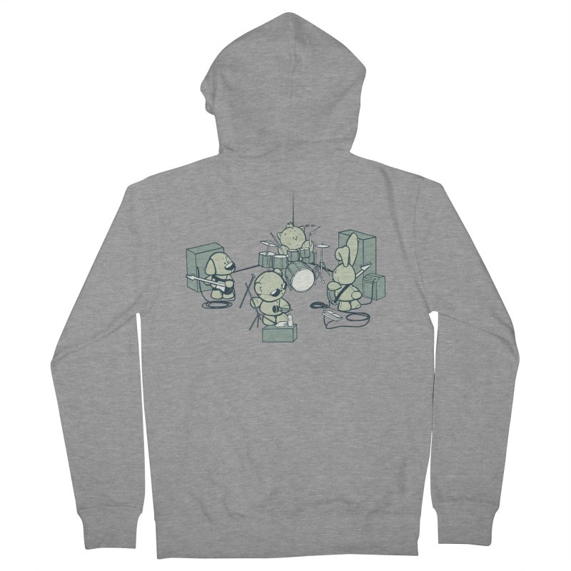 Teddy Band Women's Zip-Up Hoody by AlePresser's Artist Shop