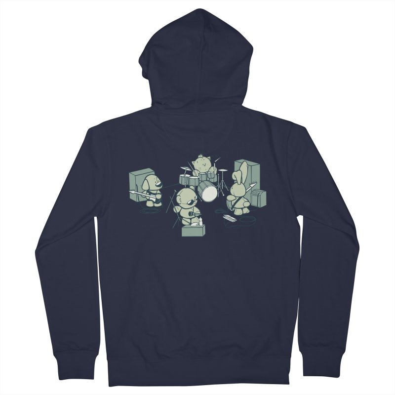 Teddy Band Women's French Terry Zip-Up Hoody by AlePresser's Artist Shop