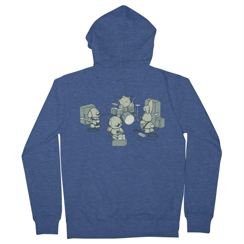 Teddy Band Men's French Terry Zip-Up Hoody by AlePresser's Artist Shop