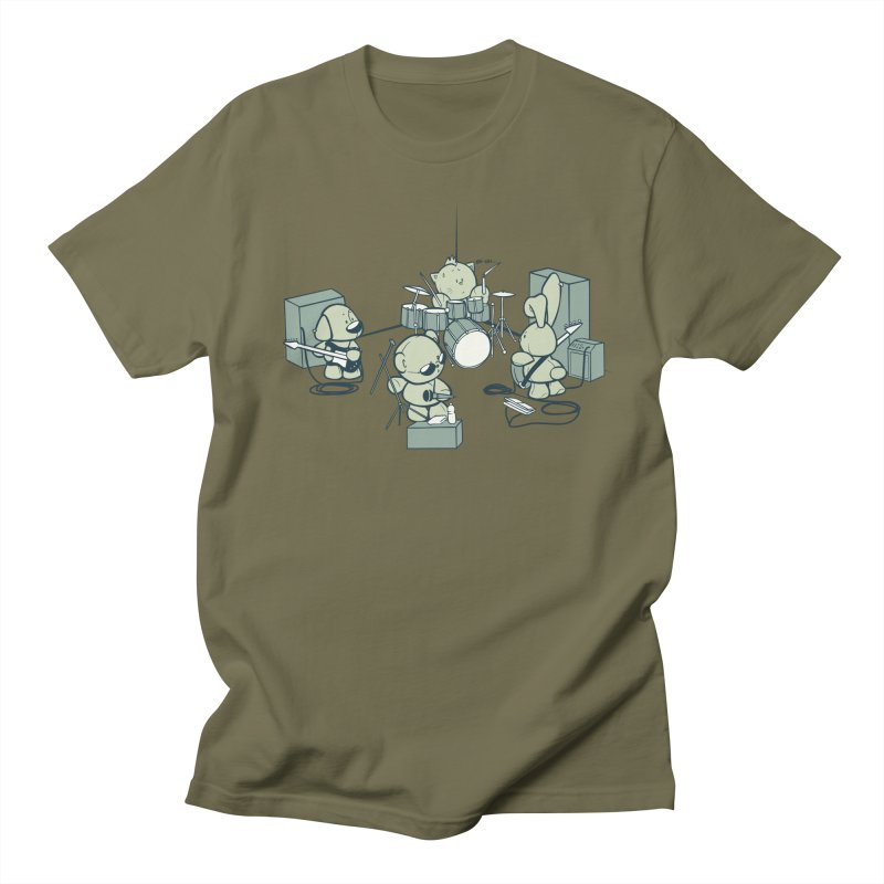 Teddy Band Men's Regular T-Shirt by AlePresser's Artist Shop