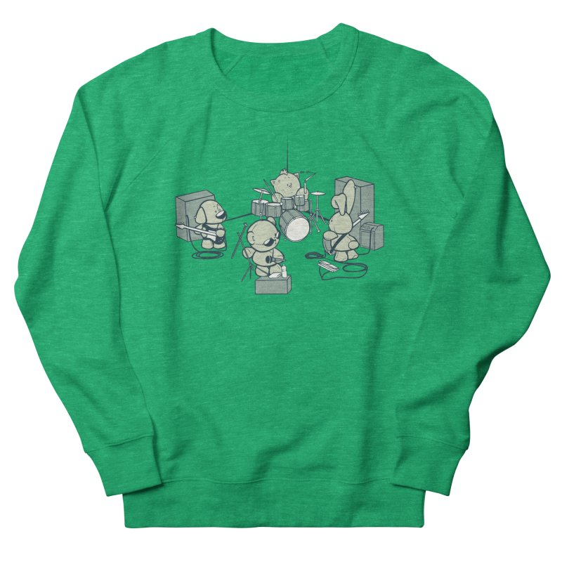 Teddy Band Women's French Terry Sweatshirt by AlePresser's Artist Shop