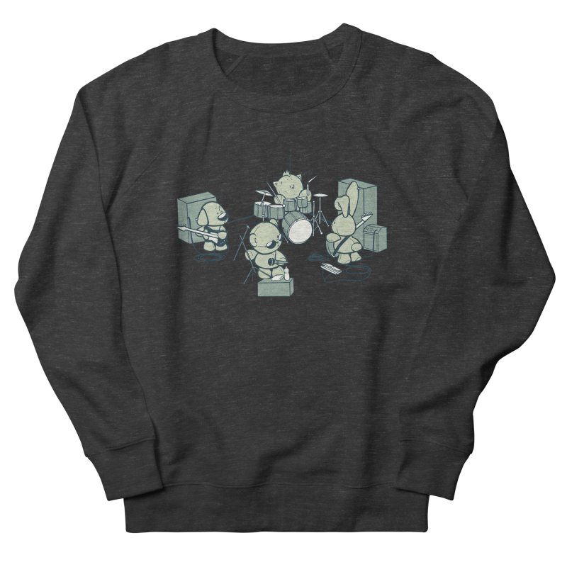 Teddy Band Men's French Terry Sweatshirt by AlePresser's Artist Shop