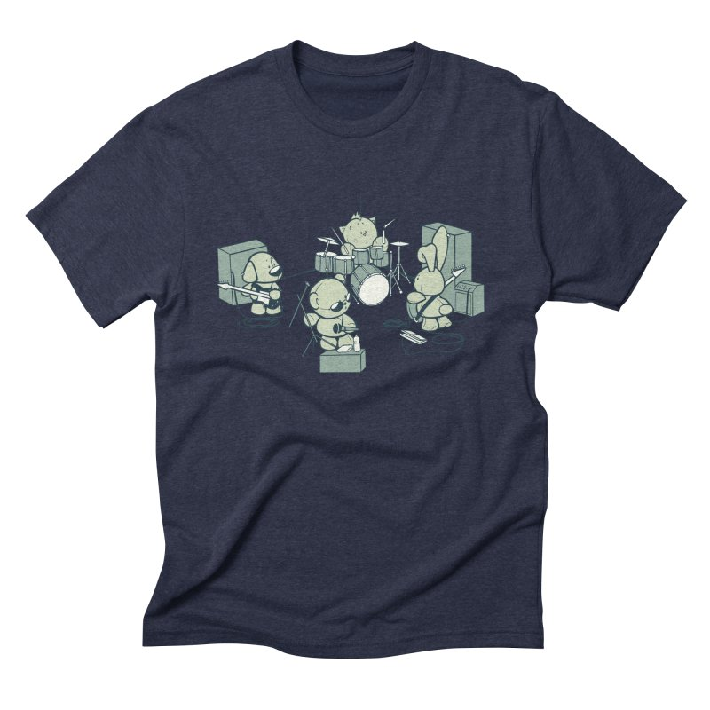 Teddy Band Men's Triblend T-Shirt by AlePresser's Artist Shop