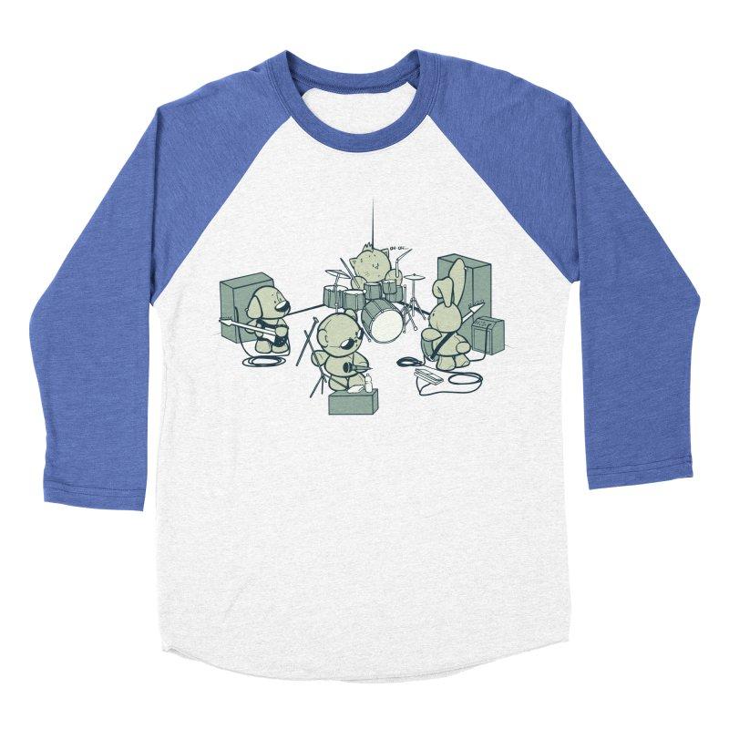 Teddy Band Men's Baseball Triblend T-Shirt by AlePresser's Artist Shop