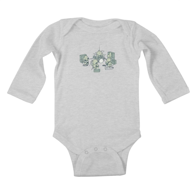 Teddy Band Kids Baby Longsleeve Bodysuit by AlePresser's Artist Shop